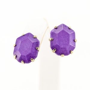 Kendra Scott Neon Purple Morgan Earrings